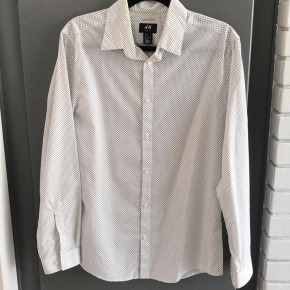 f3cec5541526 H&M Shirts | Mens Hm Slim Fit Easy Iron Shirt | Poshmark